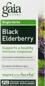 Gaia Herbs Black Elderberry Syrup for colds and allergies